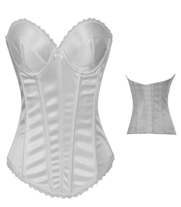 2014 new white black corset Strapless sexy shapewear corset bodysuit to wear out plus size sexy lingerie hot 06A002269A(China (Mainland))