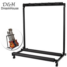 Dreamhouse New 5 Multiple Guitar Folding Rack Storage Organizer Holder Electric Acoustic Stand  us6(China (Mainland))