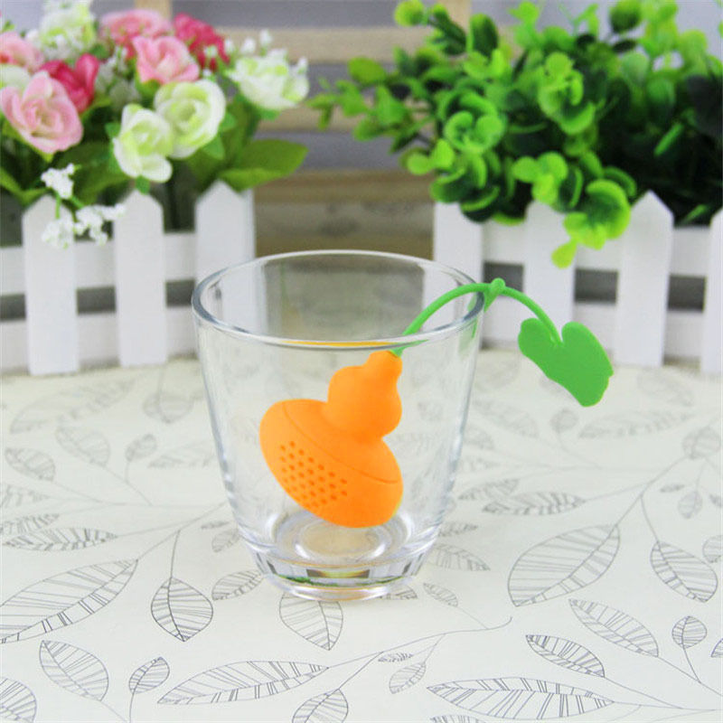 Silicone Calabash Tea Infuser/Diffuser for Loose Tea Leaf/Herbs/Spices