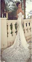 New Sexy Design Sweetheart Lace Satin Mermaid Wedding Dresses Bridal Gowns Custom Made Size 2 4 6 8 10 12 14 16 18+ W468(China (Mainland))