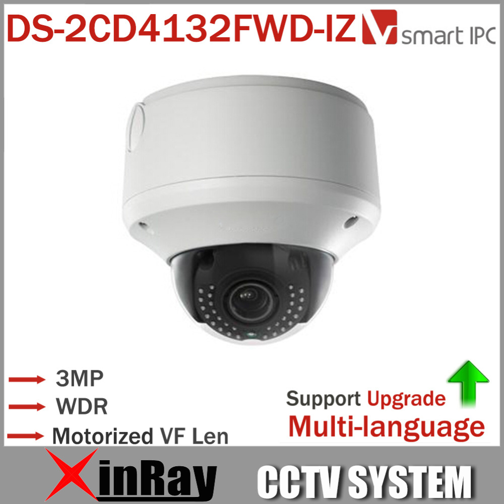 Hikvision Original Multi-language Smart  DS-2CD4132FWD-IZ 120dB WDR Dome Full HD Motorized VF Lens Indoor IR IP CCTV Camera  IWS<br><br>Aliexpress