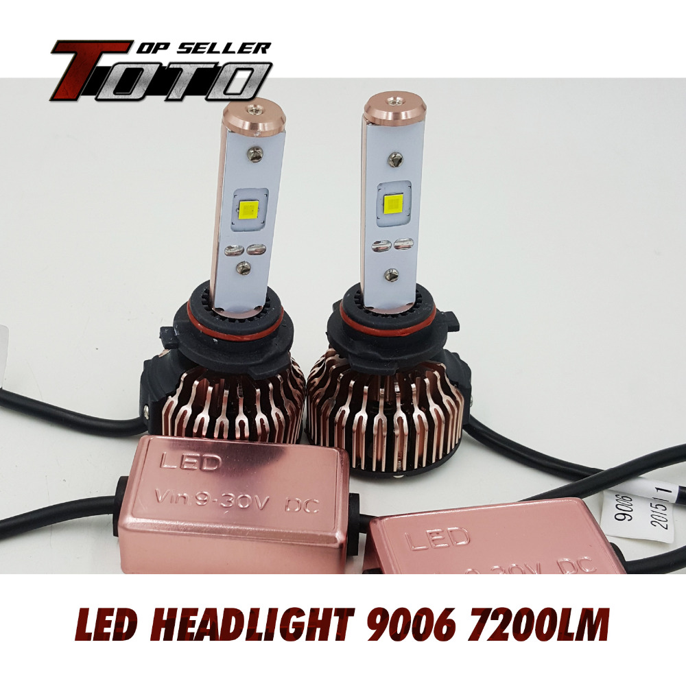 2x 9006 HB4 60W/Set 7200LM CREE LED Car White 6000K Fog Driving Headlight Conversion Kit Bulbs w/ Fans Cooling Adjustable
