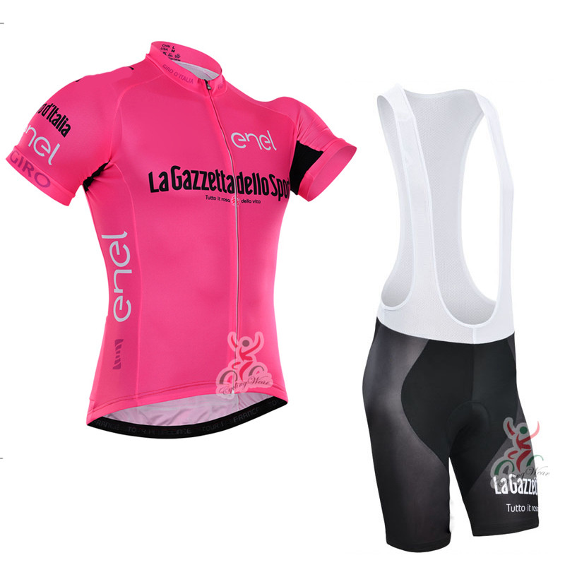 Pro Cycling Jersey 2016 Summer Breathable Bicycle Wear Pink/Red Ropa Ciclismo Hombre Mtb Bike Quick-Dry Short Cycling Clothing(China (Mainland))