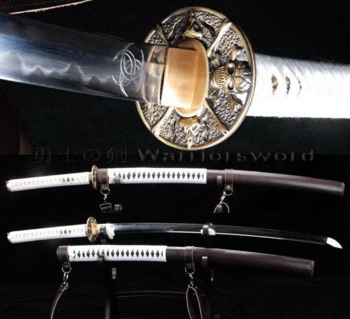 Walking Dead Sword Clay Tempered Folded Steel Katana Zombie Killer Knife JS81(China (Mainland))