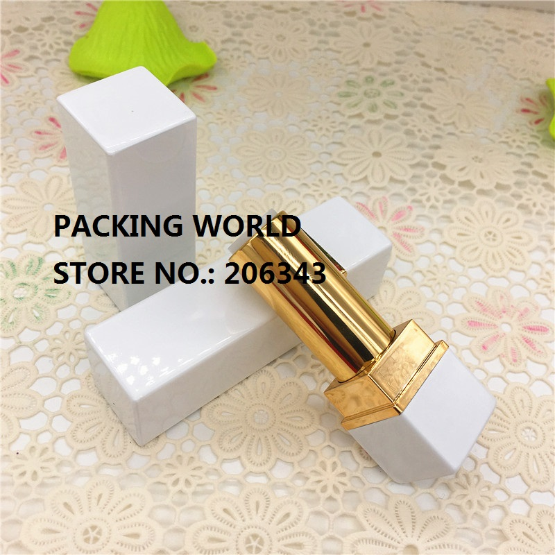 4G aluminumsquare shape gold lip tube for lip sticker/ lip balm lip sticker tube can be used for cosmetic package(China (Mainland))