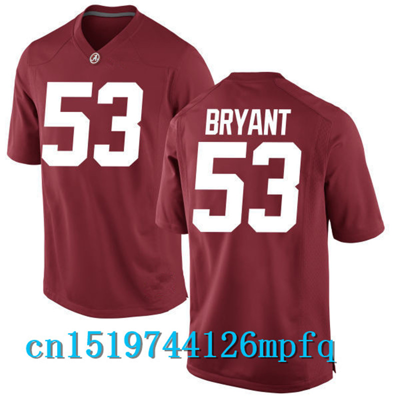 2017 Alabama #53 Bryant #42 Lacy #41 Upshaw #33 Gore #29 Fitzpatrick #26 Humphrey College Jersey - Red Size S,M,L,XL,2XL,3XL(China (Mainland))