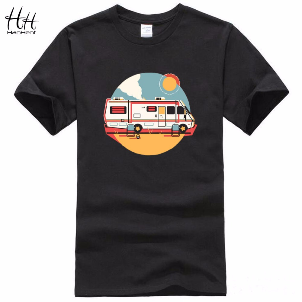 HanHent Heisenberg Car T-Shirt 2016 New Fashion Design Breaking Bad Cooking With Chemistry Cotton T Shirts bodybuilding Tees(China (Mainland))