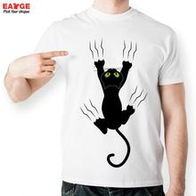 [EATGE] Fashion Skateboard Anime Cartoon T-Shirt Women Cute Cat Pattern Tee Funny Printed T Shirt Casual Men Short Sleeve Tshirt