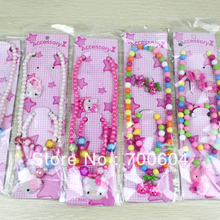 Sale 2013 Newest 12sets/lot Fashion Kid's Child Children Girl Ornament Jewelry Sets Accessories wholesales TS13563(China (Mainland))