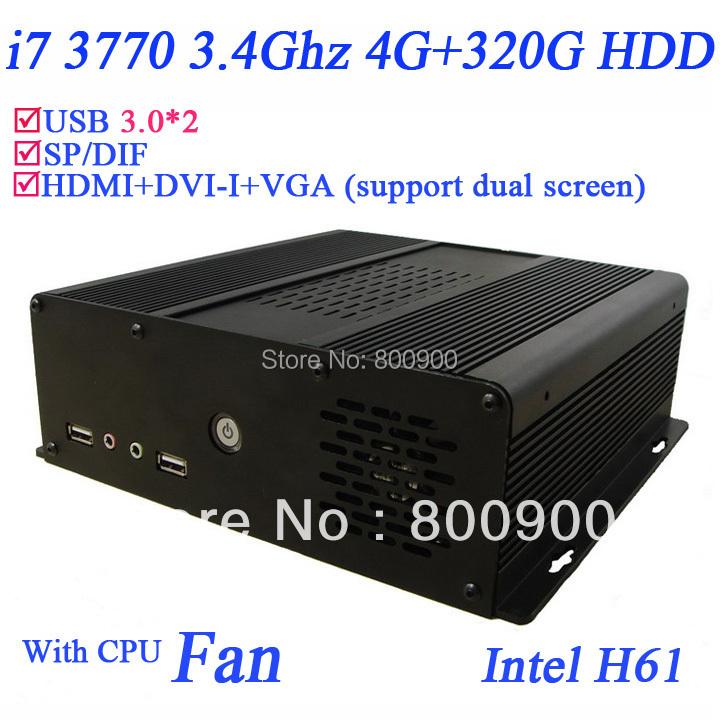 High end pc i7 quad core windows 7 64 bit english with gpu HD4000 graphic card H61 4G RAM 320G HDD with USB 3.0 HDMI VGA DVI(China (Mainland))