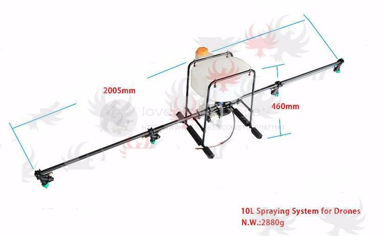 DIY spraying system sprayer Spray gimbal kit Aluminum Alloy + Carbon fiber 5L 10L for Agricultural multirotor drone