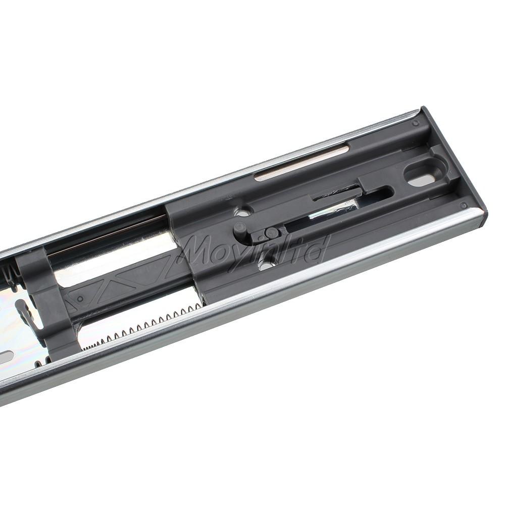 1 Pair Fully Extension Steel Ball Bearing Drawer Damping Buffer Slides Rail 40cm(China (Mainland))