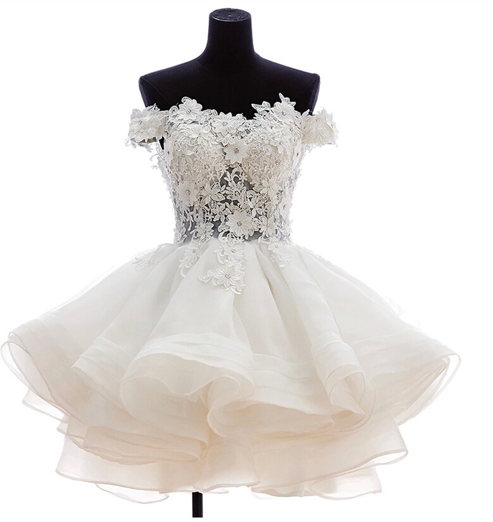 Popular White Puffy Short Dress Tulle-Buy Cheap White Puffy Short ...