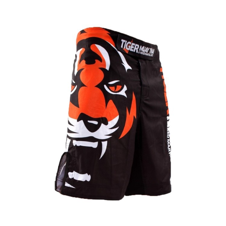 The new 2015 tigers printing MMA loose boxing muay Thai shorts Sweat quick-drying fight training shorts Global free shipping(China (Mainland))