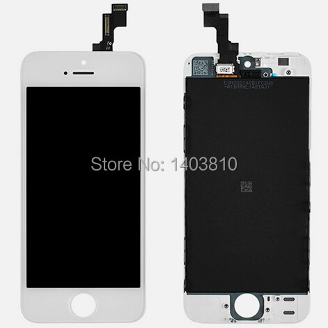 NEW White Original For iPhone 5S LCD Display & Touch Digitizer Screen digitizer Assembly with track No.(China (Mainland))