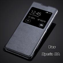Buy XA Fundas luxury Fashion Phone Bag Skin sony Xperia XA F3111 & XA Dual F3112 F3113 view window flip cover pu leather case for $2.95 in AliExpress store