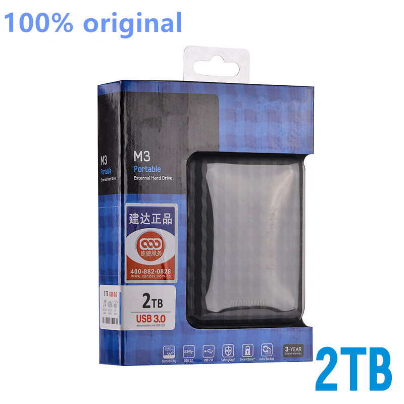 "The New 2017 Hard disk 2 TB 2.5 ""3.0 Portable USB Hard Drive HDD Black External Hard drives 3 Year giant free shipping(China (Mainland))"