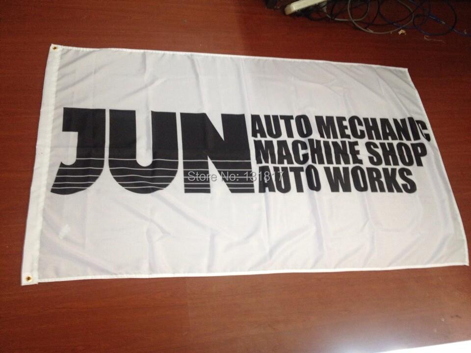 2014 hot sale jun machine shop flag(China (Mainland))