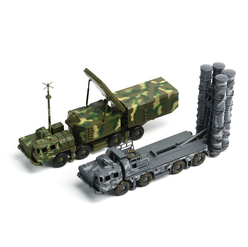 Russia Army S-300 long range surface-to-air missile systems toy model 1/72 SA-10 Grumble Radar and Missile launching vehicle toy(China (Mainland))