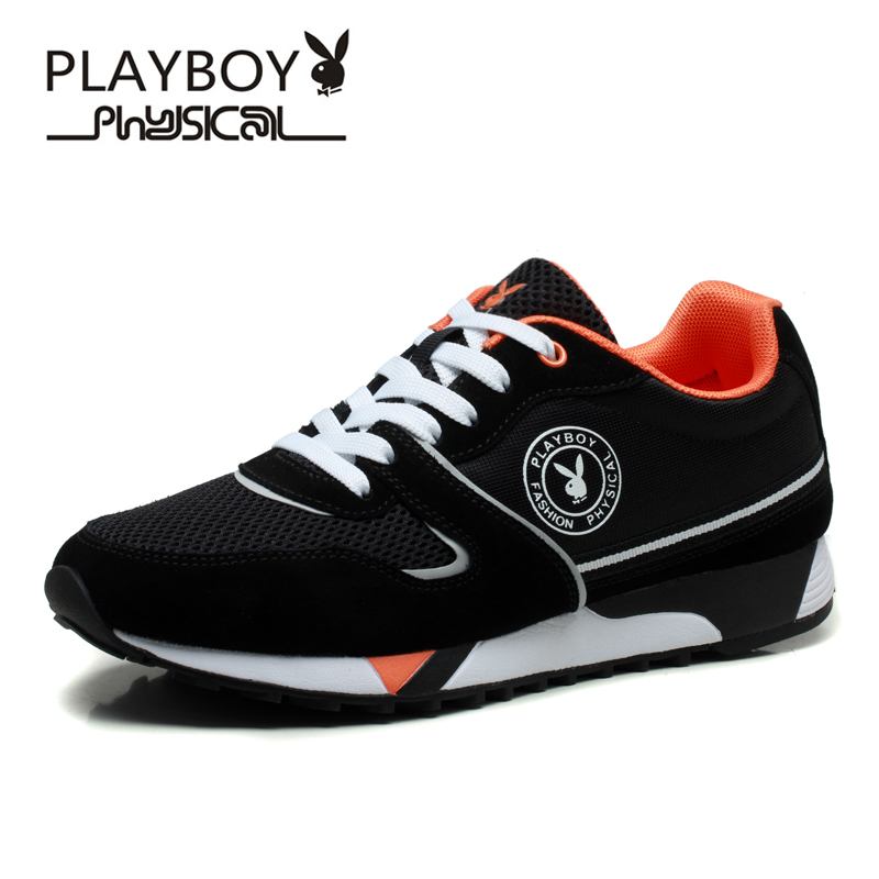 PLAYBOY 3 Colors Fashion Men Shoes 2016 Summer Style Mesh Patchwork Breathable Casual Outdoor Lace-up Flat - Feng shang co., LTD store