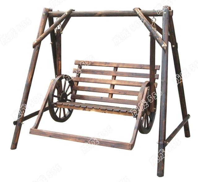 Roue en bois massif balan oire ext rieure chaise ber ante for Chaise bercante en bois massif