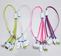 2016 new 8 Pin 30 Pin Micro5 Pin Micro USB 3 0 Flat Noodle Charging Cable