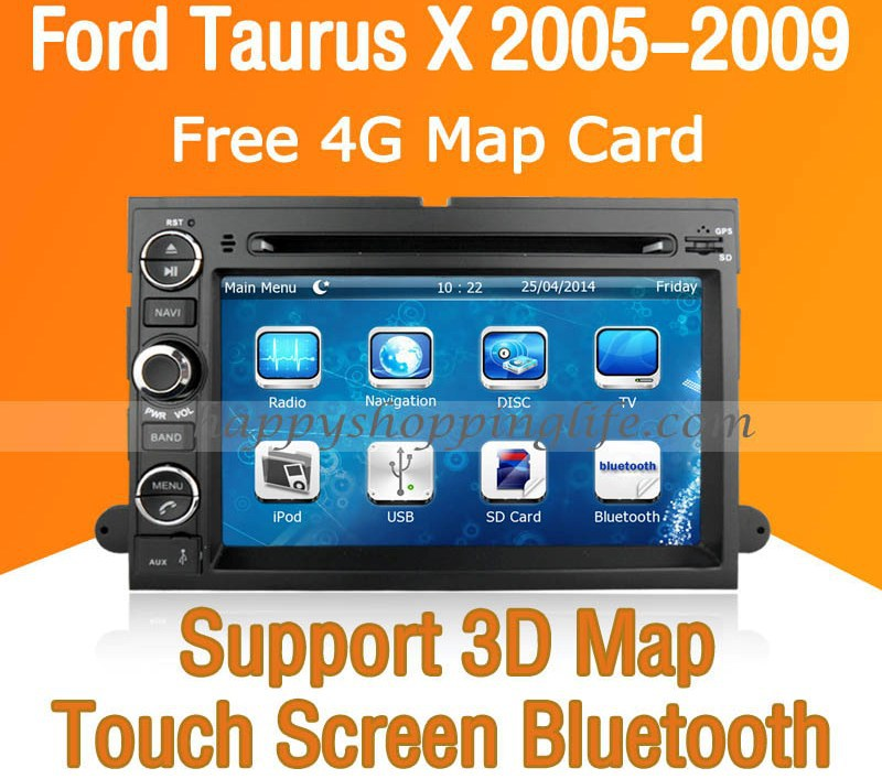car dvd with gps navigation for ford taurus x touch screen. Black Bedroom Furniture Sets. Home Design Ideas