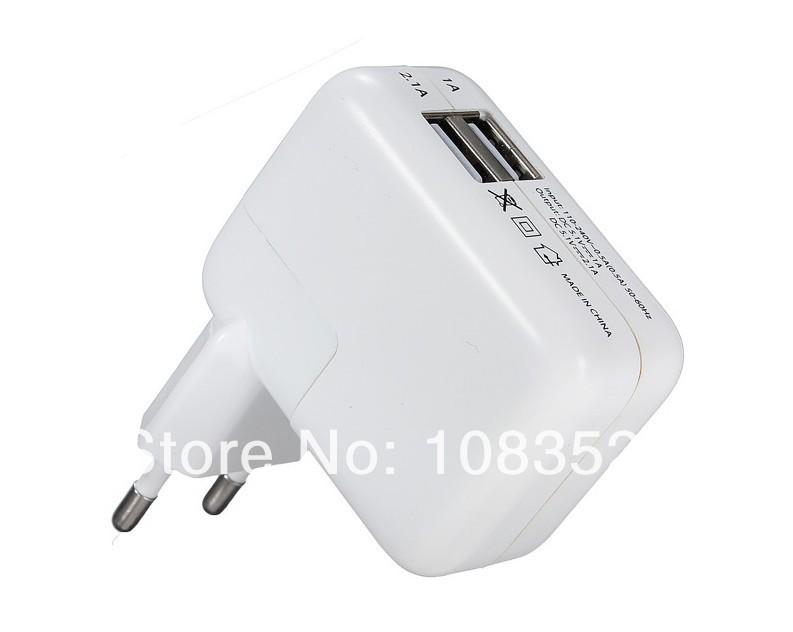 Universal 2 USB Ports EU Euro Plug Home Travel Wall AC Power original Charger Adapter For Samsung Galaxy S4 iphone 5s ipad Mini(China (Mainland))