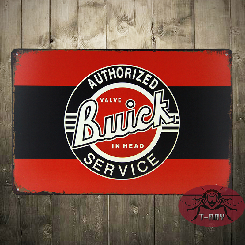 BUICK Authorized Service Metal Tin Sign - Man Cave Garage Bar Game Rm Shop B-40(China (Mainland))