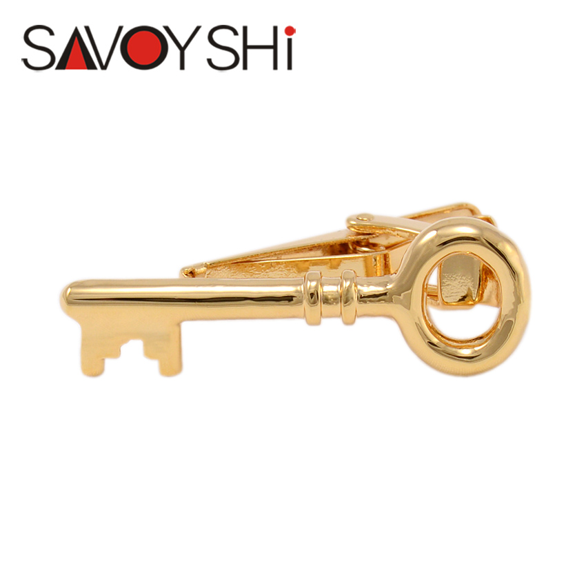 Gold Key Tie Clips for Gentleman Men Necktie High Quality Novelty Personality Business Gift SAVOYSHI Brand Jewelry Free Shipping(China (Mainland))