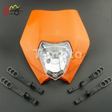 Orange Motorcycle Dirt Bike Motocross Supermoto Universal Headlight Fairing KTM SX EXC(China (Mainland))