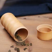 Chinois vintage thé boîte en bambou boîte de rangement boîte à thé boîtes colonne pot de thé caddy de stockage cas la main organisateur gros(China (Mainland))