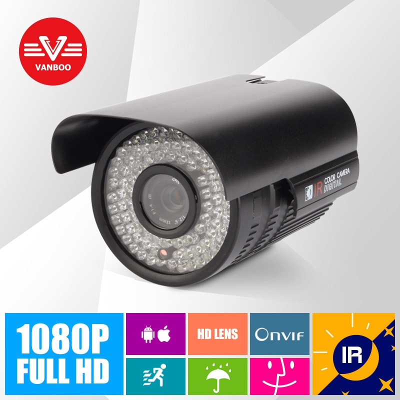 2MP 1920*1080P ONVIF 2.0 Waterproof IR CUT Night Vision P2P Plug and Play Bullet IP Camera Outdoor(China (Mainland))