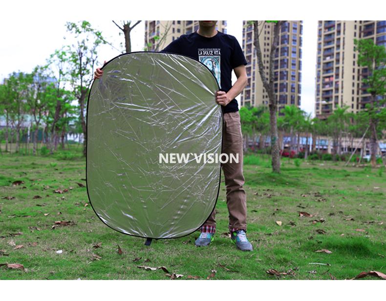 Free + tracking Godox 5 in1 Reflector 80 * 120cm oval shape reflector folding portable bag(China (Mainland))
