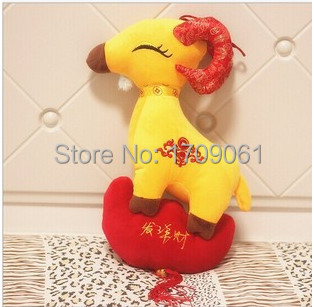 Free Shipping 1 piece 20 cm 2015 New Year sheep toy ,goat toy ,lamb toy ,high quality best gift(China (Mainland))