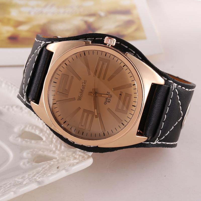 2016Brand Vintage leather Bracelet Watch Casual Women WristWatch Luxury Quartz Watch Relogio Feminino(China (Mainland))