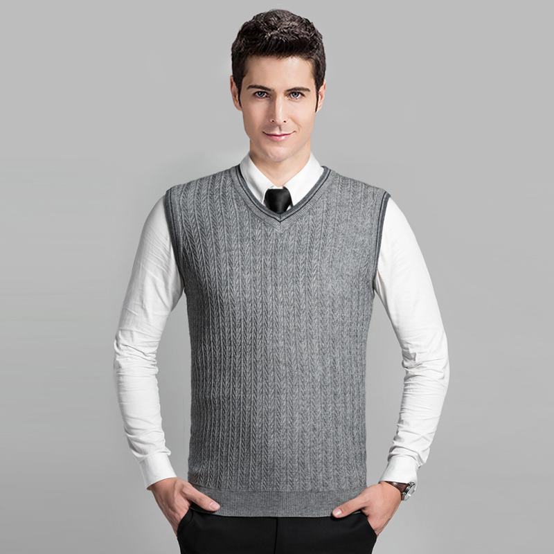 Knitting Pattern Mens Sleeveless Vest : Online Buy Wholesale cable knit vest from China cable knit vest Wholesalers ...