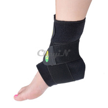 M/L Black Adjustable Ankle Support  Pad Protection Elastic Brace Guard Support Football / Basketball Foot Protector YD004_P4575(China (Mainland))
