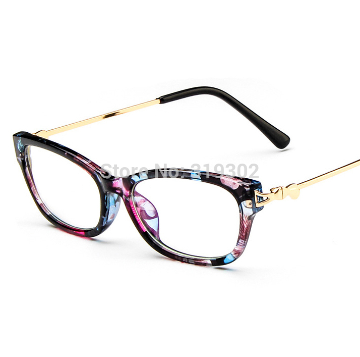 Small Frame Cateye Glasses : NEW cat eye Optical frames women Metal gold small frame ...