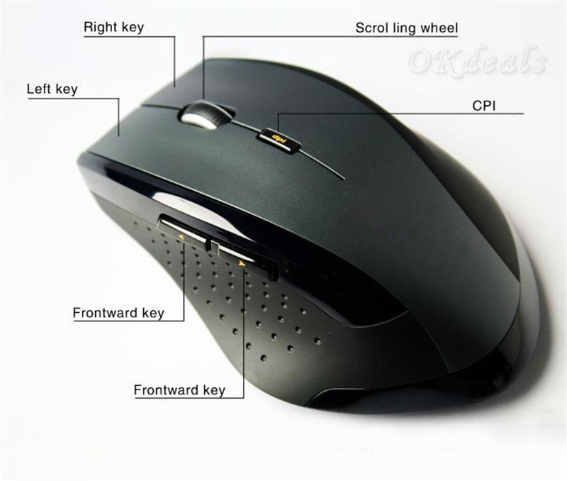 Wireless 2.4GHz Computer Mini Gaming Mouse Mice For Laptop Desktop PC USB 2.0 Receive(China (Mainland))