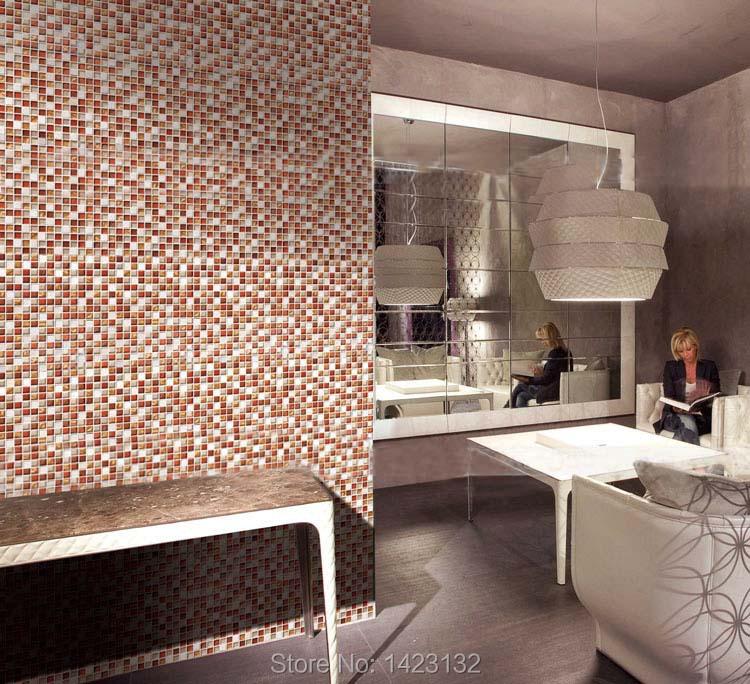 Vloertegels Keuken Karwei : Glas steen mozaïek tegel bruin keuken backsplash sta030