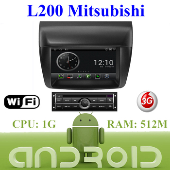 Car DVD Mitsubishi L200 Car PC Android System s150 Multimedia Wifi 3G Host Auto Navigation GPS Video Free EMS DHL