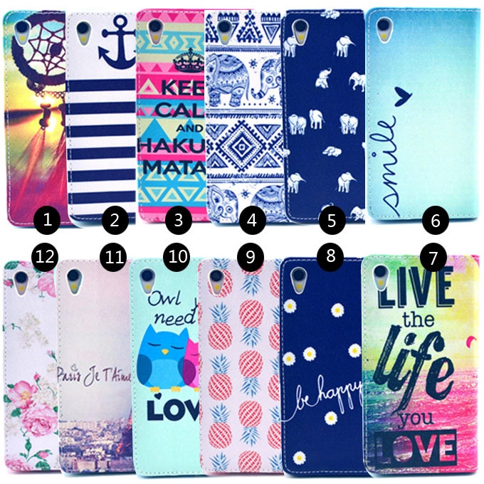 Colorful Pattern pu Leather Wallet Case Cover Sony Xperia Z1 L39H C6902 C6903 C6906 cell Phone Cases Y3D25D - Yudi-best store