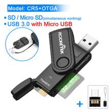 Rocketek USB 3.0 قارئ بطاقات الذاكرة متعددة OTG نوع c أندرويد محول Cardreader ل مايكرو SD/TF CF MS أجهزة الكمبيوتر الصغيرة(China)