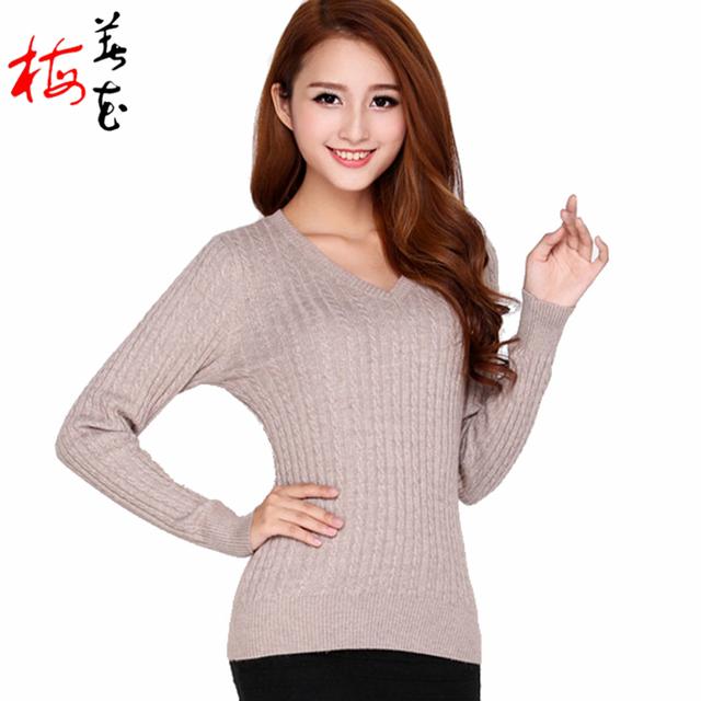 Пуловеры v-образным вырезом подкладки 100% кашемира цены-заводские евро с длинными ...