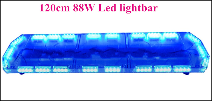 High intensity 120cm 88W led traffic warning Lightbar,police ambulance fire truck emergency lightbar with controller,waterproof(China (Mainland))