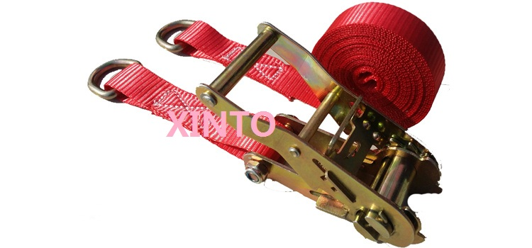 "25MM,1"",800KGX6M with D ring ratchet tie down cargo lashing auto shipping package strap shipment belt binder assembly sling(China (Mainland))"
