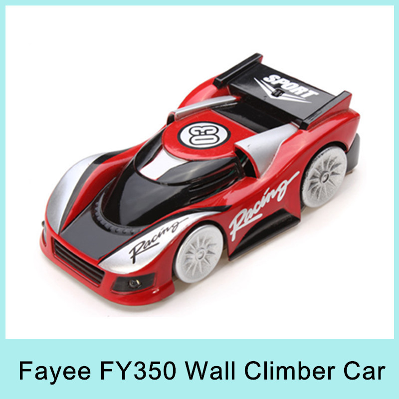 Fayee R/C Climbing Wall Car with LED Lights FY350 Remote Control Wall Climbing Cars 4CH Mini RC Wall Racer Special Toy Gift 2015(China (Mainland))