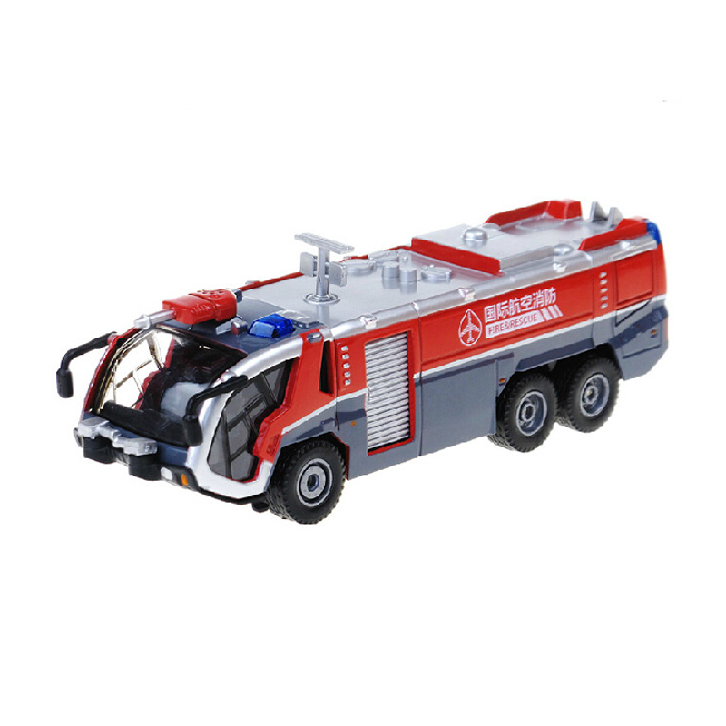 Alloy Diecast fire truck car models 1:50 Miniature Engineering scale vehicle Water cannons Collection gift toy(China (Mainland))
