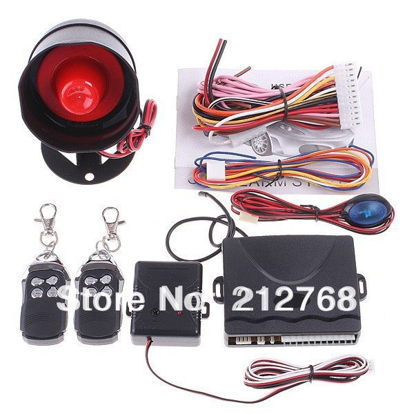 Car alarm security system 1-Way Alarm Protection System 2 Remote Control auto burglar - Friendship Top On Line Store store